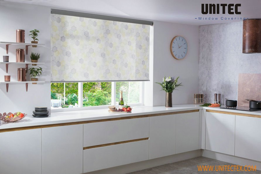 Roller Blinds: Ideal for Modern Kitchen Window Treatments ... on window treatments for large windows, window treatment patterns for kitchens, valance ideas for large windows, design ideas for kitchen windows, best window treatments for kitchen windows, window treatments for window seats, large kitchen windows, ideas to dress up windows, fabric for kitchen windows, curtain ideas for kitchen windows, rustic kitchens with big windows, window cornice ideas, kitchen valances for windows, window blinds and shades ideas, diy curtain ideas for windows, kitchen remodels with no windows, window treatments for bow windows, window treatments for corner windows, window treatments for doors with windows,